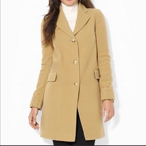 Michael Kors 100% wool Trench style  EUC size 8